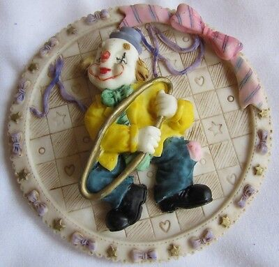 Decorative Plate with Clown (10cm in diameter) - Shudehill Giftware