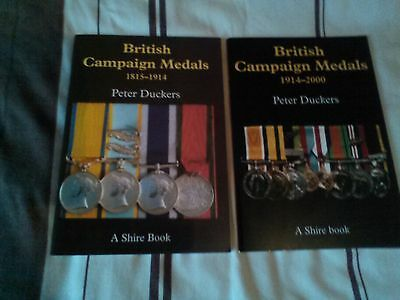 2 books on british campaign medals 1815-1914 and 1914-2000