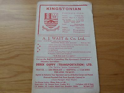 Kingstonian v Tooting & Mitcham United Isthmian League 1961