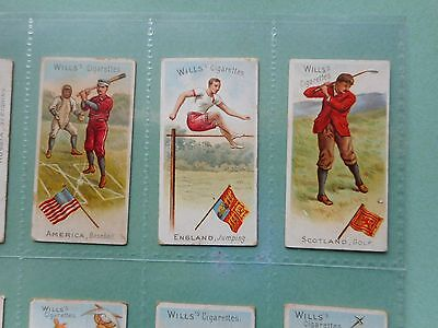 Full Set Cigarette Cards Wills Sports Of All Nations Golf Baseball Ok Condition