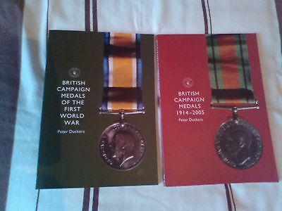 2 books on british campaign medals the first world war and 1914-2005