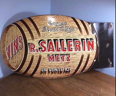 French Double-Sided Wine Advertising Sign//Antique//Vintage