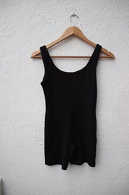 vintage leotard shorts body dance black medium gymnastics cotton cycle