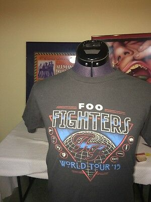 Foo Fighters Dave  Grohl Used Tee Shirt Tour 2015 , Just Crummy Enough Tee