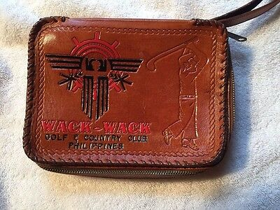 leather book cover Wack Wack Golf and country club Philippines