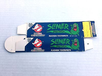 Ghostbusters Slimer toothpaste empty carton 1986