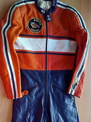 GAMAN Vintage One pc Motorcycle Leather Suit Size 44