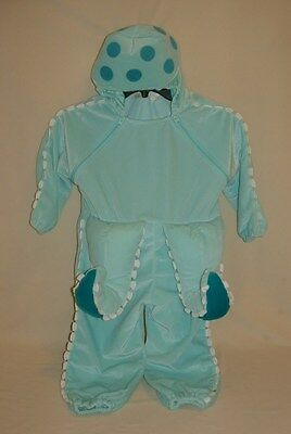 Baby Style Blue Octopus Halloween Costume Toddler Size 2-3T One-Piece Zippered
