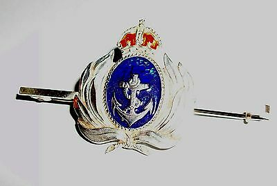 Vintage Sterling Silver & Enamel Naval Sweetheart Brooch - Lovely Condition