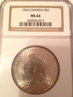 1935 Canada NGC MS 64 S$1