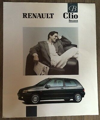 Renault Clio Baccara Special Edition 1991 Car Range Brochure. 3 Door Exec Mini