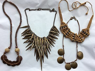 Job Lot Costume Jewellery Mix 4 Assorted Necklaces.  153c