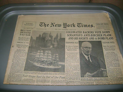 July 15,1964 New York Times  newspaper Republican National Convention