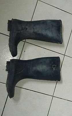 Town and country wellingtons wellies wellys size 4 blue