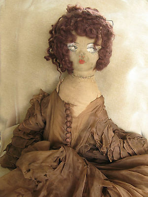 Antique Doll Dress And Cloth  Doll