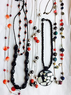 Job Lot Costume Jewellery Mix 6 Assorted Bead Necklaces 23b