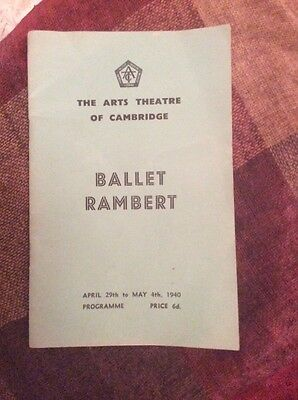 The Arts Theatre Of Cambridge Ballet Rambert Programme April 29th - May 4th 1940