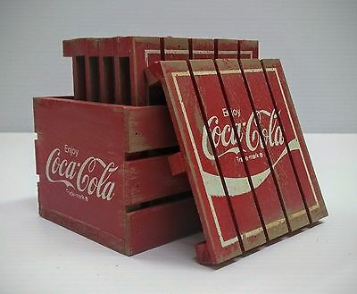 Coca-Cola Wooden Pallet Coaster Set - BRAND NEW