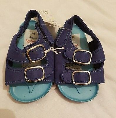 F&F Baby Boys Sandals age 3-6 Months (New)
