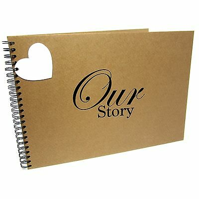 A3/A4/A5 Our Story, Scrapbook, Landscape, Card Pages, Photo Album, Memory Book