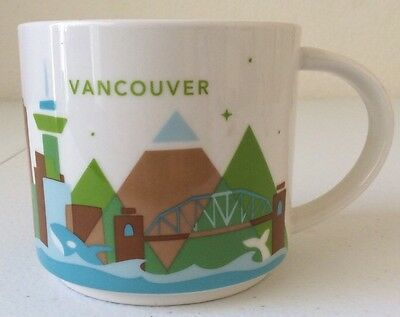 STARBUCKS Vancouver Coffee Mug You Are Here Collection Excellent Condition