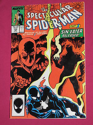 The Spectacular Spider-Man #134 Marvel Comics 1988 Peter Parker, Mary Jane