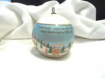 1979 Hallmark THE LOVE-FILLED HOME Satin Ball Christmas Ornament-ORIGINAL OWNER