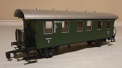Rivarossi O Gauge 7786 2Nd Class Coach - Green - Boxed