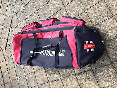 Large F18 Gray Nicholls Cricket Kit Bag With Wheels + 2x Ice Cool Compartments