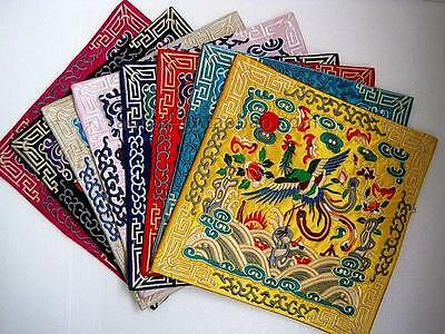Lots 4pcs Chinese Classic Embroidered Silk Mouse Mat Cup&Telphone&Desk Coasters