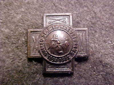 Rare Bronze United Spanish American War Veterans Button Hole Lapel Medal