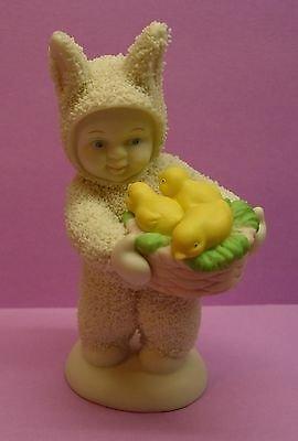 Department 56 Snowbunnies With Basket Of Chicks