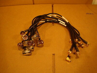 """Lot of (10) Corning MobileAccess 705007801 18.5"""" Jumper Cables Jumpers Pigtails"""