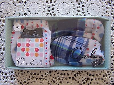 BNIB...**Oobi Boxed Set** Baby Nappy Cover & Matching Booties...Size 0......