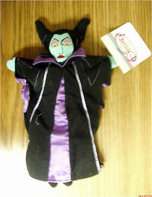 "Disney Sleeping Beauty MALEFICENT 11"" bean bag plush with tags"