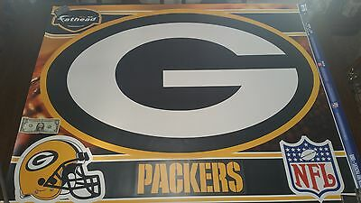 Fathead Green Bay Packers Logo Wall Decals 50 wide 33 tall Rodgers Cobb Nelson