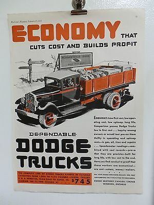 "Old 1931 Dodge Trucks  Advertising Print Ad. Cars Automobiles. 14"" X 11"""