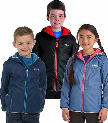 Regatta Lagoona Kid's Reversible Jacket Fleece Backed Waterproof Girls Boys
