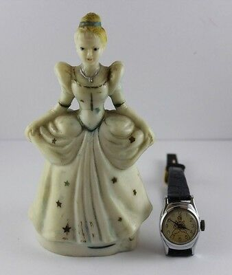 Vintage W.D.P Cinderella Character Timex Watch Rare Original Toy Set