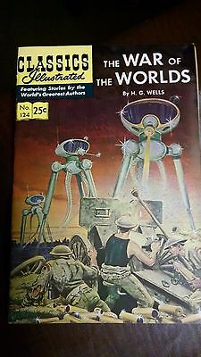 WAR OF THE WORLDS CLASSICS ILLUSTRATED #124 1970 COMIC f/vf