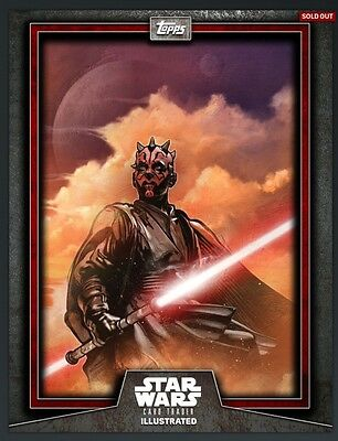 DARTH MAUL ILLUSTRATED RED (10) Topps Star Wars Card Trader Digital Card