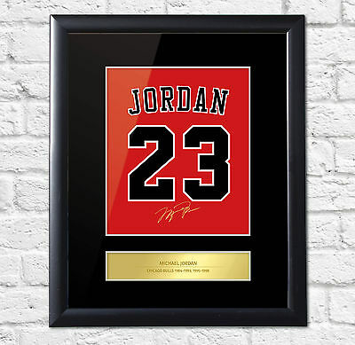 Michael Jordan Signed Mounted Artistic Photo Display Chicago Bulls FRAME