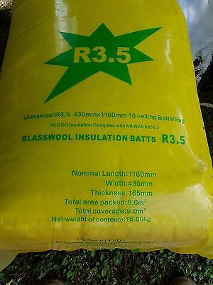 Insulation Glasswool Ceiling Batts R3.5