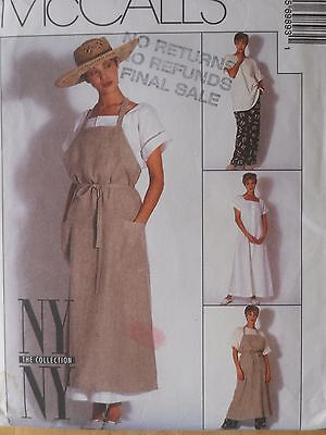 McCall's Sewing Pattern-Misses DRESS, APRON-DRESS, TOP &PANTS-Size: 10-UNCUT
