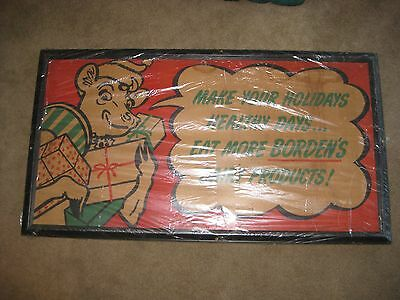 Borden's Dairy vintage Sign 1940s