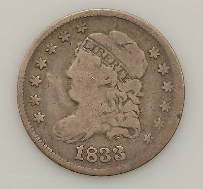 1833 Capped Bust Silver Half Dime *G55