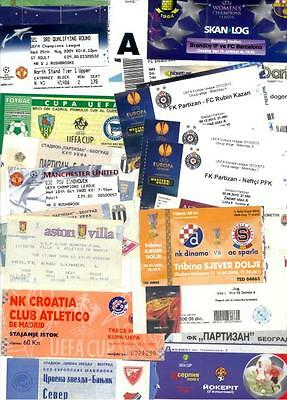 NEW ! UEFA CUPS VARIOUS TICKETS ! 1996 - 2014 ! Updated February 2017 !