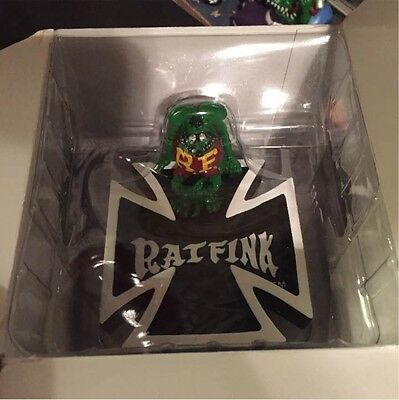 Never Use! Rat Fink Iron Cross Ash Tray a new old item verry good Item