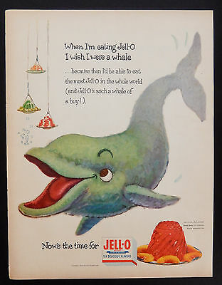Vintage 1954 Jello Jell-o Whale of a buy advertisement print ad