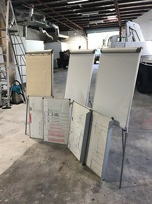 Whiteboards Assorted, 3 X Free Standing, 4 X Wall Mount